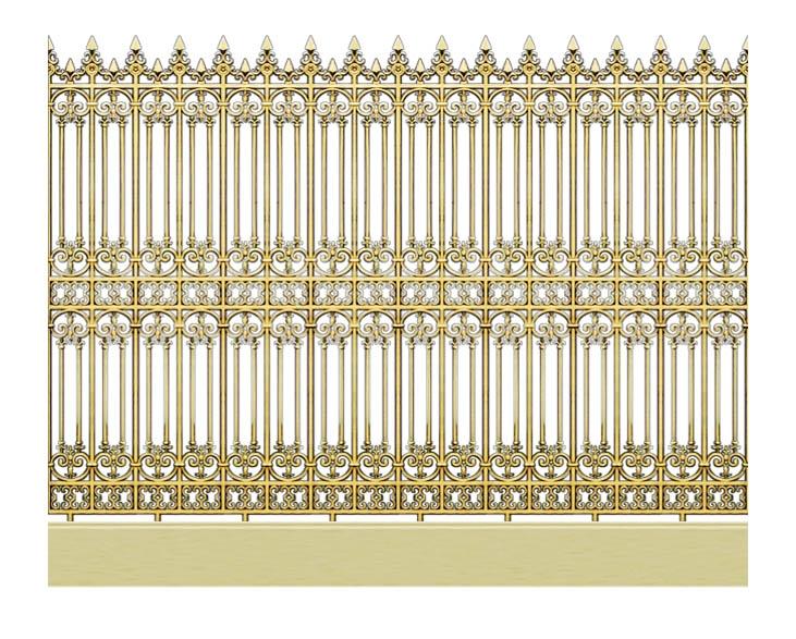 Hàng rào nhôm đúc mẫu HR -017
