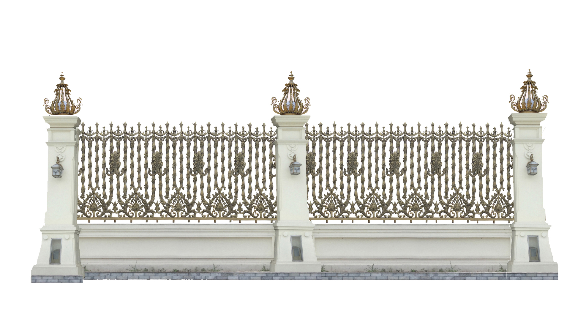 Hàng rào nhôm đúc mẫu HR -007
