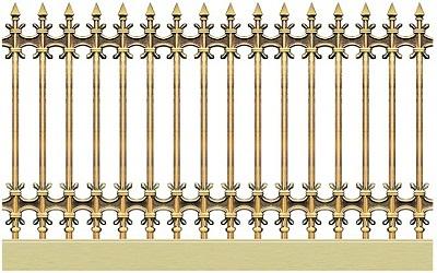 Hàng rào nhôm đúc mẫu HR -036