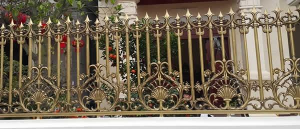 Hàng rào nhôm đúc mẫu HR -023