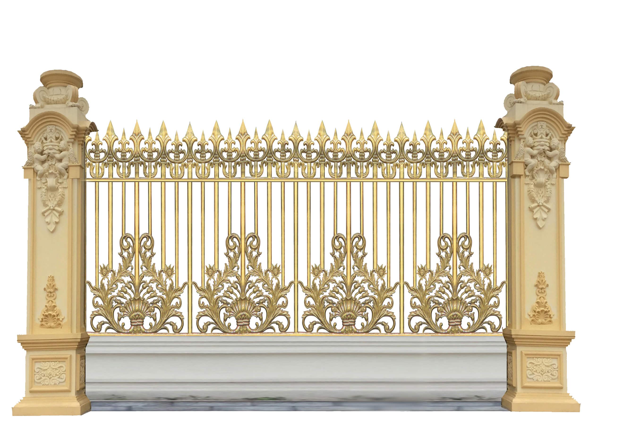 Hàng rào nhôm đúc mẫu HR -008
