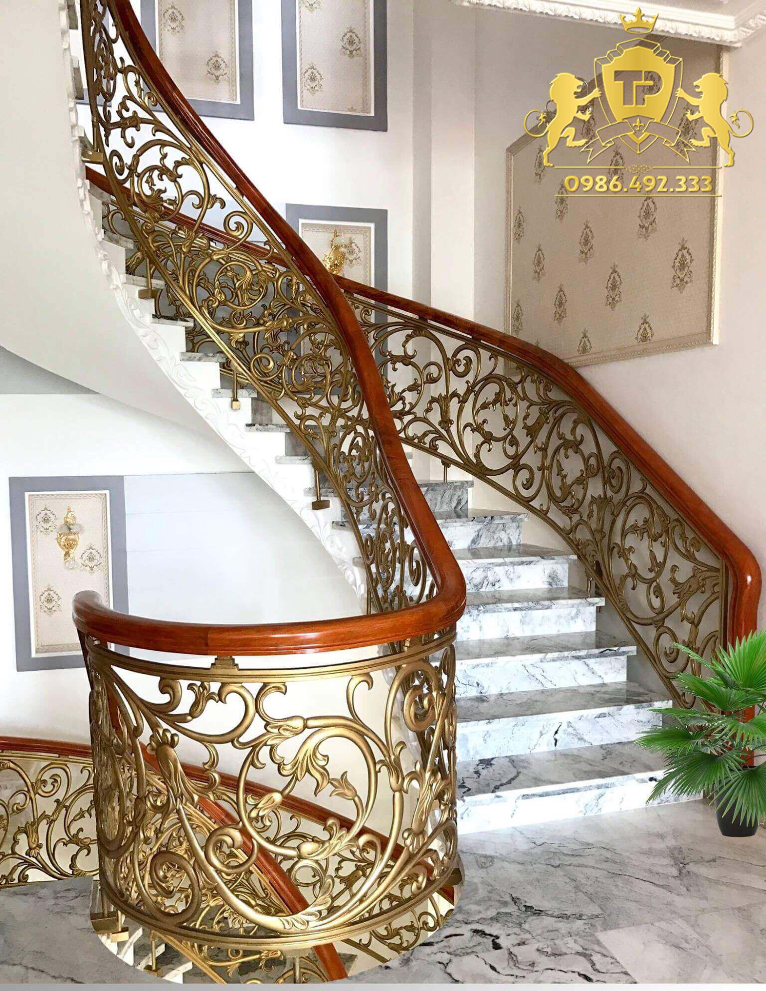 Cầu thang nhôm đúc - CT016